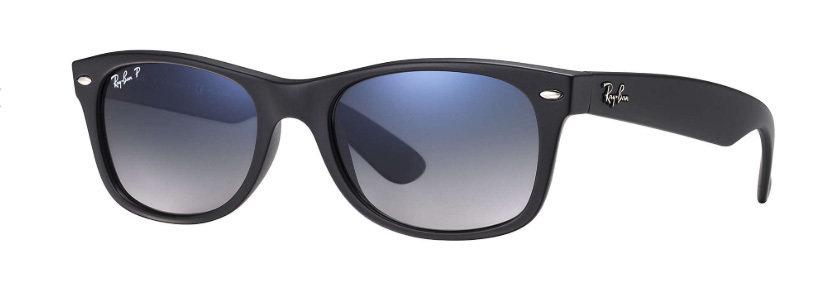 af6349ff981ce Ray Ban New Wayfarer Classic Black Blue Grey Gradient Polarized