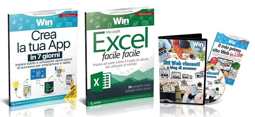 TECH COLLECTION - CREA LA TUA APP IN 7 GIORNI + EXCEL FACILE FACILE + DVD SITI WEB VINCENTI