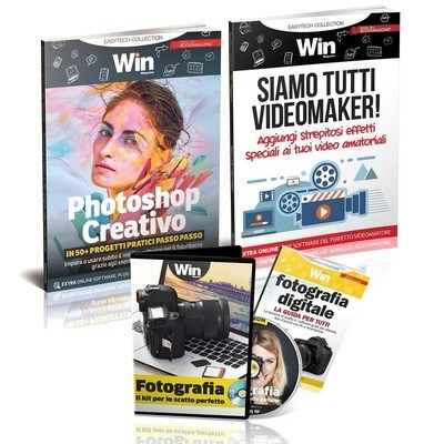 TECH COLLECTION - PHOTOSHOP CREATIVO + SIAMO TUTTI VIDEOMAKER + KIT FOTOGRAFIA