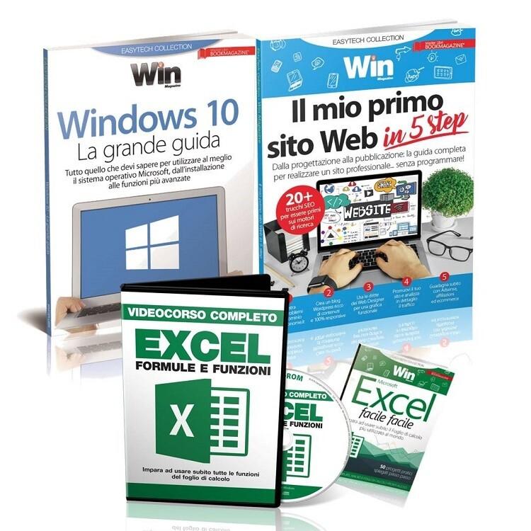VIDEOCORSO EXCEL + WINDOWS 10 La grande guida + IL MIO PRIMO SITO WEB