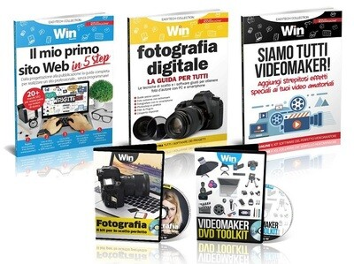 TECH COLLECTION - IL MIO PRIMO SITO WEB +DVD KIT FOTOGRAFIA + DVD KIT VIDEOMAKER