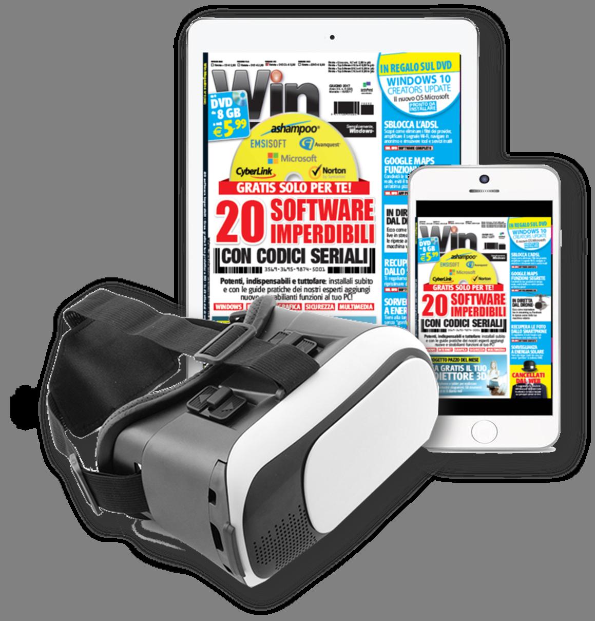 Win Magazine DIGITALE - VISORE 3D + Abbonamento a 2 anni!