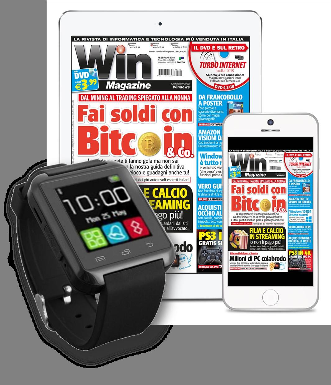 Win Magazine DIGITALE - SMARTWATCH + Abbonamento a 2 anni!