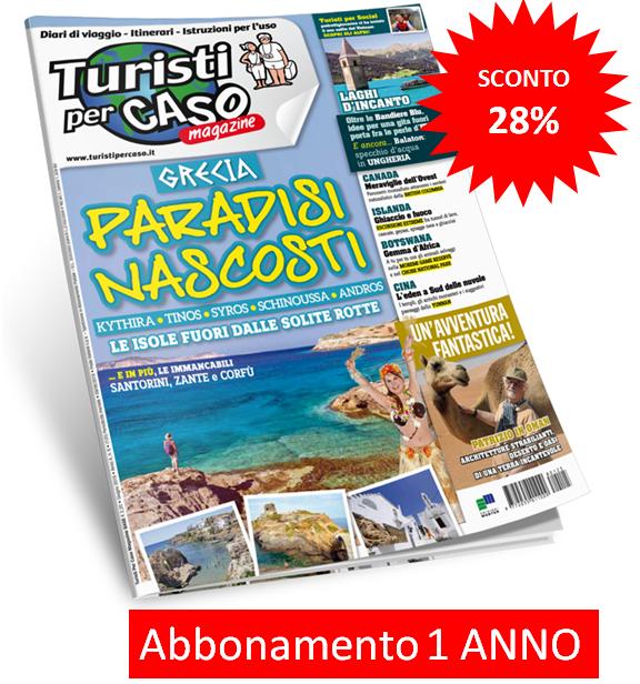 Turisti per caso magazine - abbonamento per 12 numeri