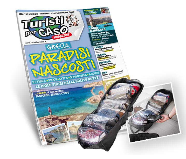 BORSA PORTA SCARPE + Turisti per caso magazine - abbonamento a 12 numeri