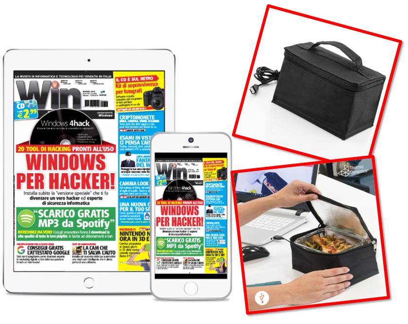 BORSA TERMICA USB + Win Magazine DIGITALE - Abbonamento 1 anno