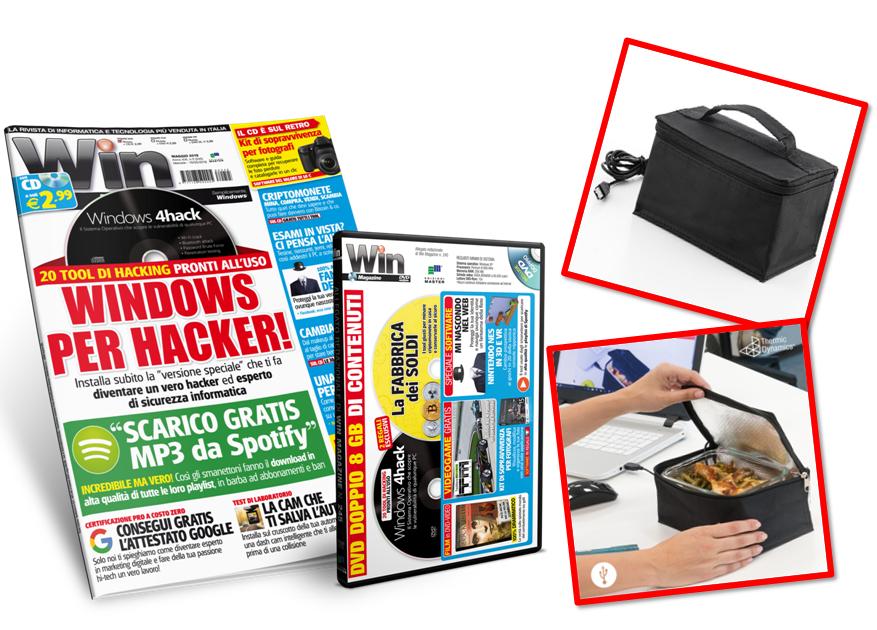 BORSA TERMICA USB + Win Magazine - Abbonamento 1 anno
