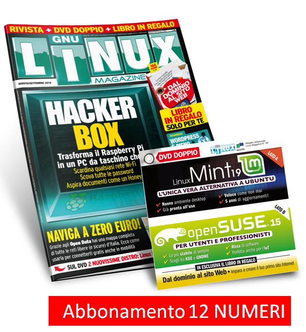 Linux Magazine (Rivista + DVD doppio) - Abbonamento 12 numeri