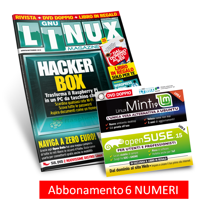 Linux Magazine (Rivista + DVD doppio) - Abbonamento 6 numeri