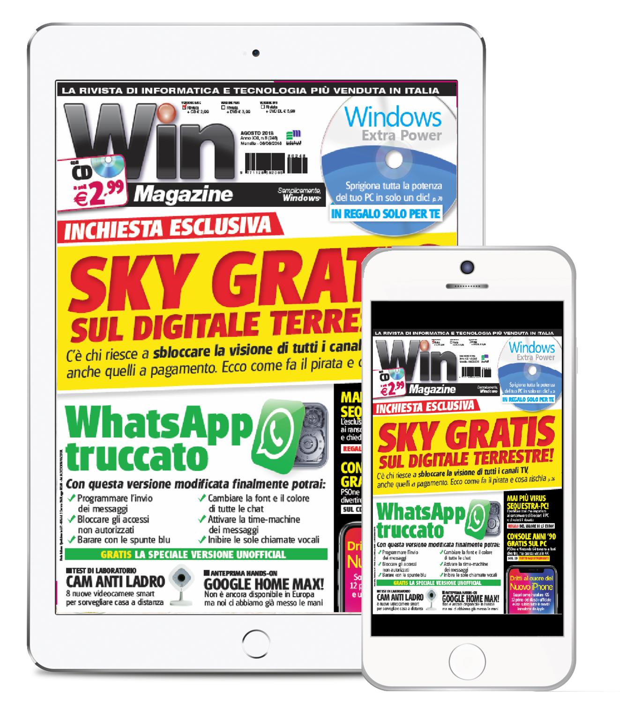 Win Magazine + WEB CD - Abbonamento DIGITALE 13 numeri