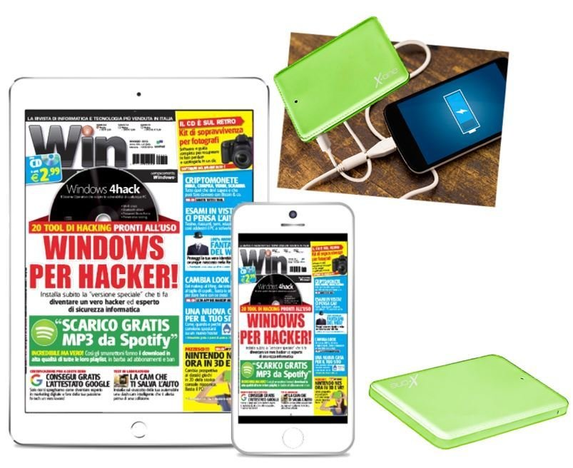 POWERBANK 3 IN 1  + Win Magazine DIGITALE - Abbonamento 1 anno