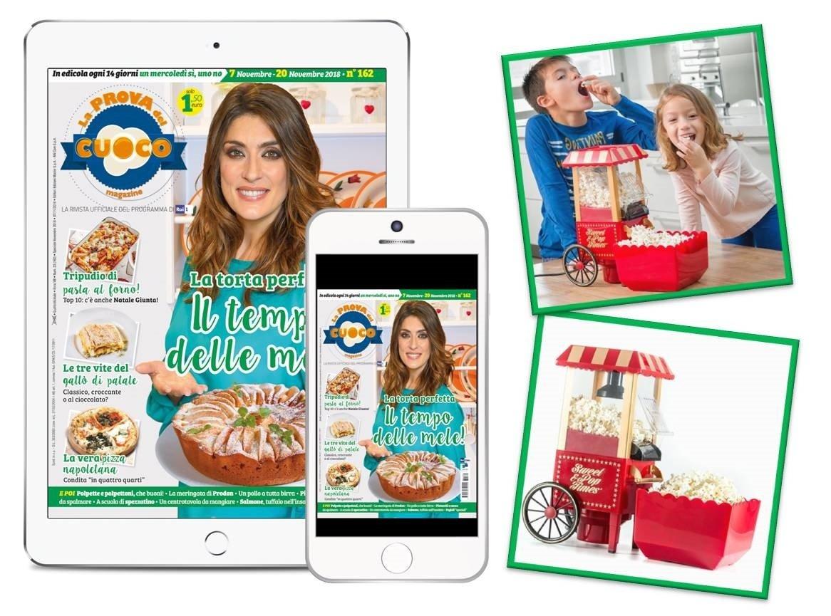 MACCHINA POP CORN + abbonamento digitale 26 numeri La Prova del Cuoco Magazine