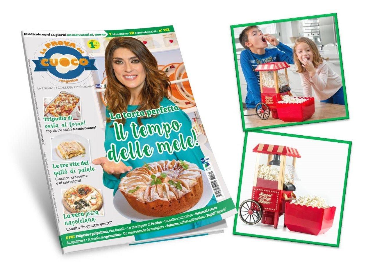 MACCHINA POP CORN + abbonamento a 26 numeri La Prova del Cuoco Magazine