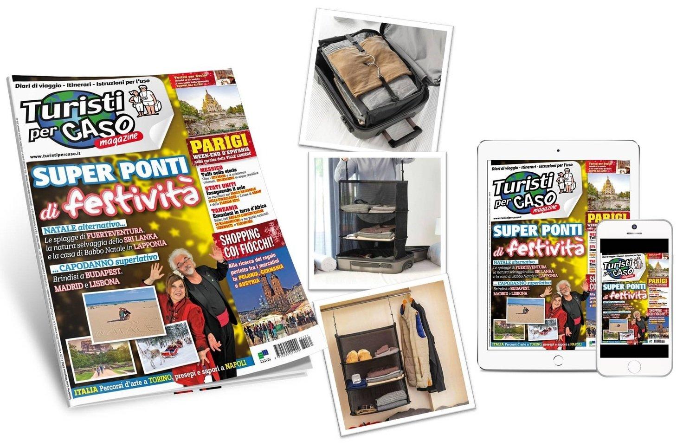 MINI-ARMADIO DA VIAGGIO + Abbonamento cartaceo e digitale a 12 numeri di Turisti per caso