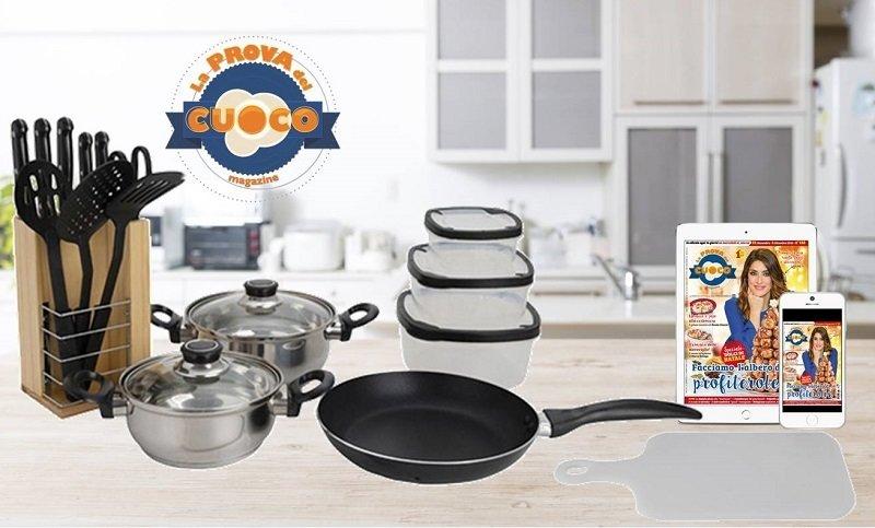 Set da cucina La Prova del Cuoco Magazine + abbonamento digitale a 26 numeri_BLACK FRIDAY_2018