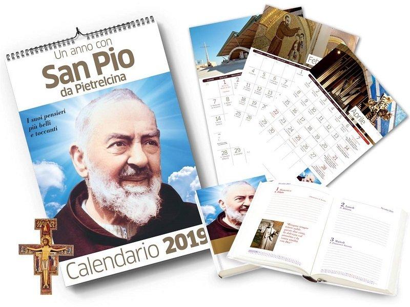 Agenda + Calendario San Pio 2019 + Crocifisso