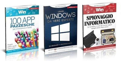 TECH COLLECTION - 100 APP PAZZESCHE + WINDOWS DA ESPERTI + SPIONAGGIO INFORMATICO
