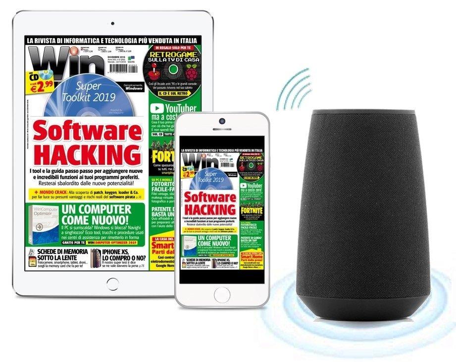 Win Magazine DIGITALE Abbonamento a 2 anni + SPEAKER A RICONOSCIMENTO VOCALE