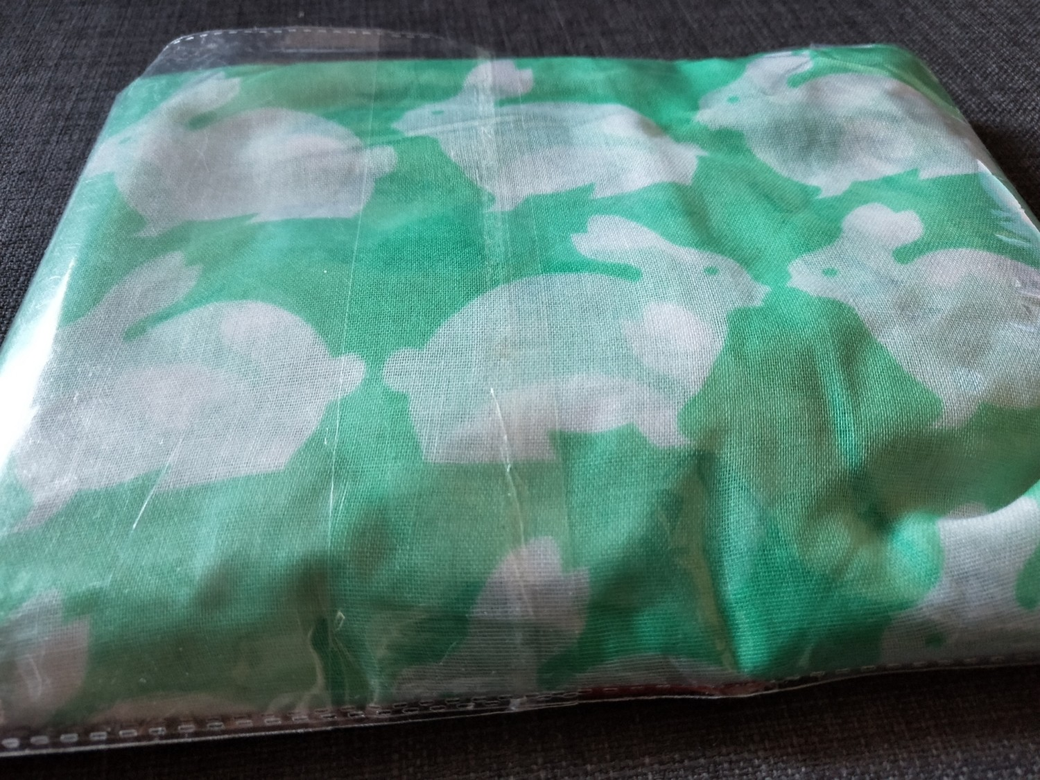Green cotton Bunny scarf