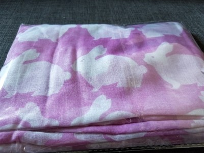 Pink cotton Bunny scarf