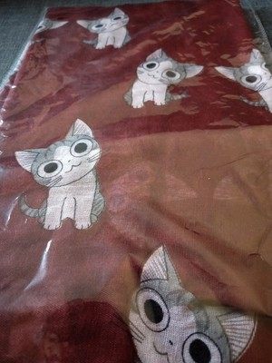 Dark red cat scarf