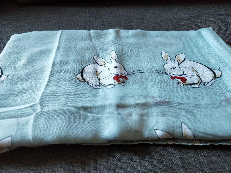 blue bunny scarf