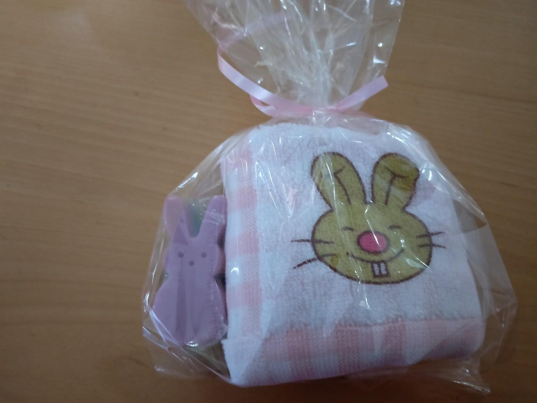 Cookie Moo Bunny Soap & Hand towel Set #1