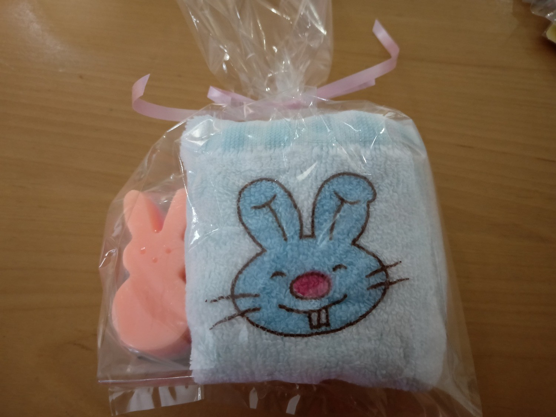 Cookie Moo Bunny Soap & Hand towel Set #5