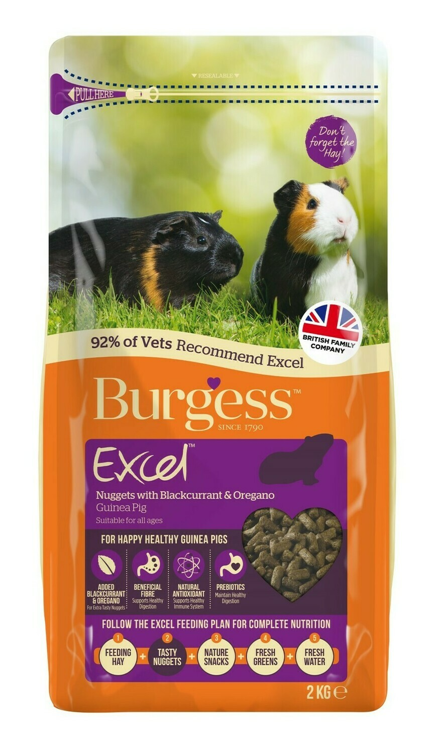 Burgess Mint For Guinea Pigs - Blackcurrant and Oregano- 2KG bags