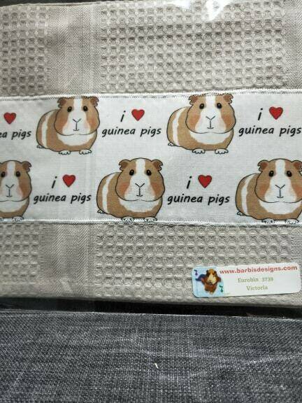 Barbi's Design - Guinea Pig Tea towel 7