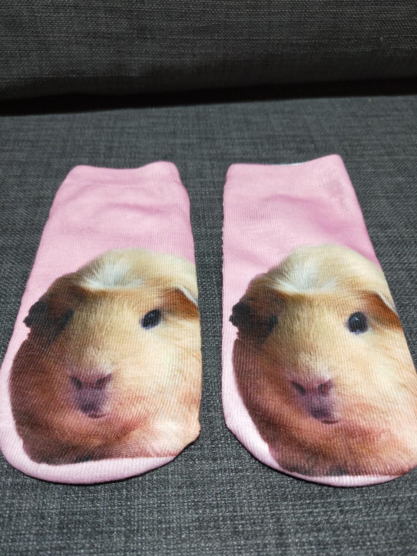 Ladies Socks - Pink Guinea pigs