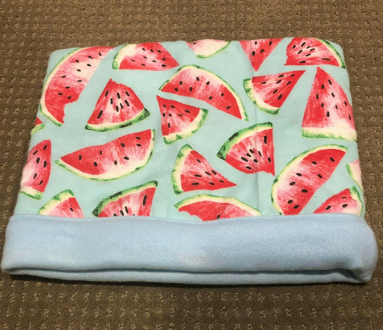Homemade Fleece Watermelon Cuddle Sack