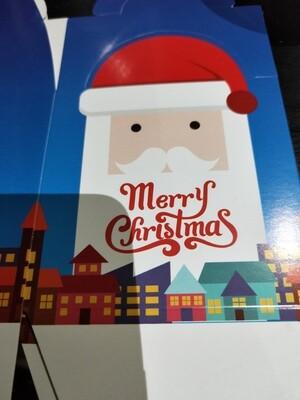 Xmas  Box blue santa with mango splodge