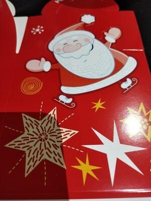 Xmas  Box red Santa with mango splodge