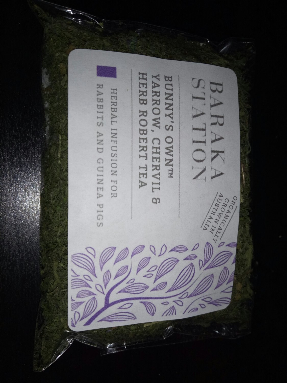 Baraka Station - Bunny's own Yarrow, chervil & Herb Robert Tea