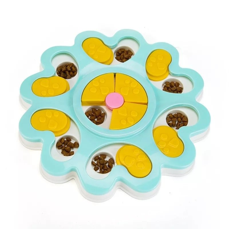 Flower puzzle toy -blue