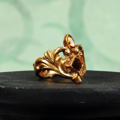 Ring 'Kamasutra' in similor - MAAT 57 - Kaat Tilley