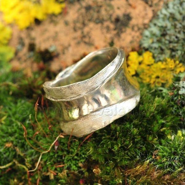 Ring in massief zilver - Ralf De Burchgrave (België) - Maat55