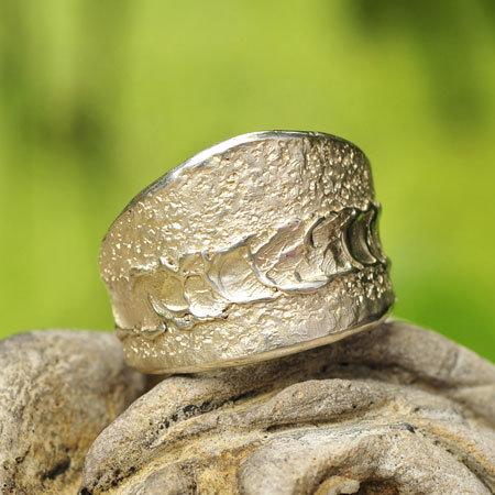 Ring in massief zilver - Ralf De Burchgrave (België) - Maat57