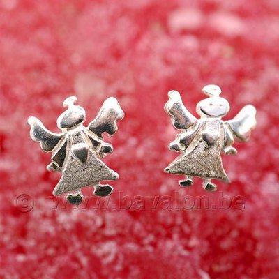 Oorringetjes voor kinderen in massief zilver - 'Gabriëlle'