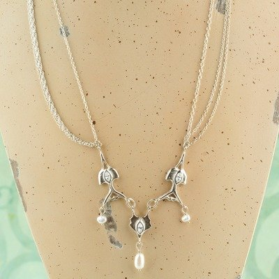 Halsketting 'Courtisane' - massief zilver - Kaat Tilley