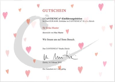 Gutschein für eine Einführungslektion im CANTIENICA®-Studio Zürich