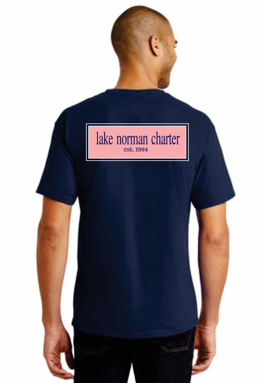'Charter-Vines' Unisex Navy T-shirt-ADULT L, XL, XXL ONLY