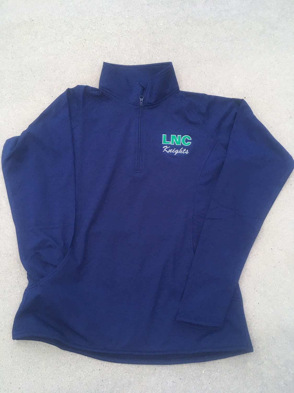 Ladies Navy ¼ Zip Pullover