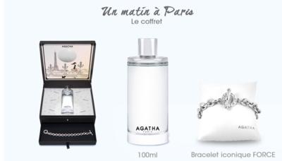 COFFRET UN MATIN A PARIS AGATHA eau de toilette 100ml + un bracelet FORCE iconique
