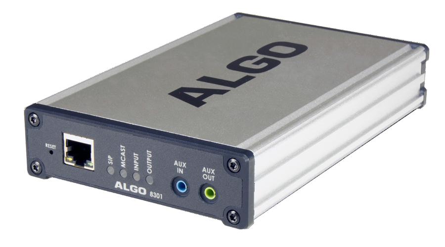 8301 Wideband IP Voice Paging Adapter & Bell Scheduler
