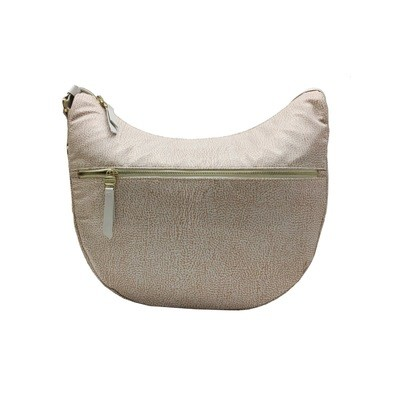 BORBONESE - Luna Medium con tasca - Almond/Ice