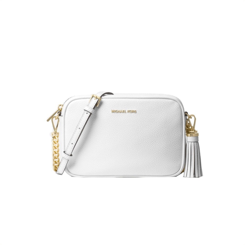 MICHAEL KORS - Tracolla Ginny in pelle - Optic White