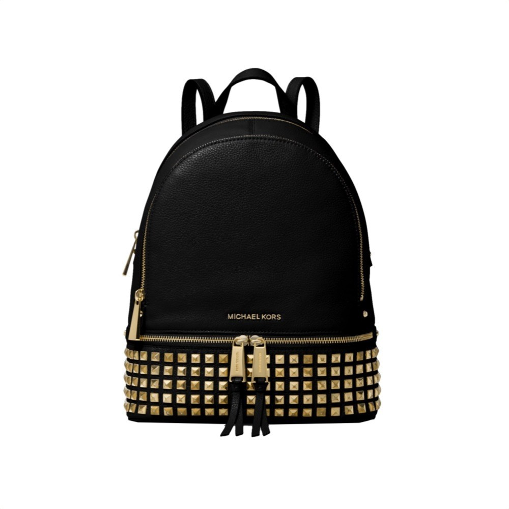 MICHAEL KORS - Zaino Rhea medio in pelle con borchie - Black