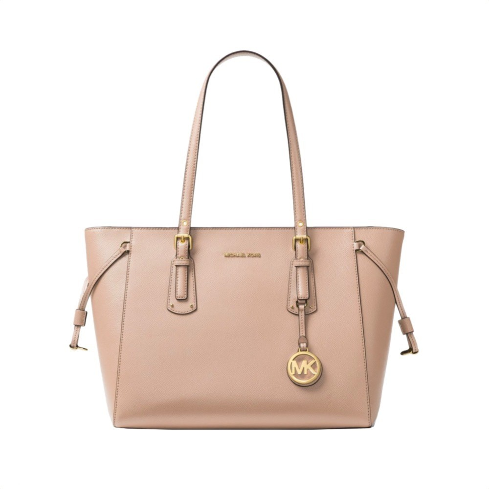 MICHAEL KORS - Voyager Medium Leather Tote - Soft Pink